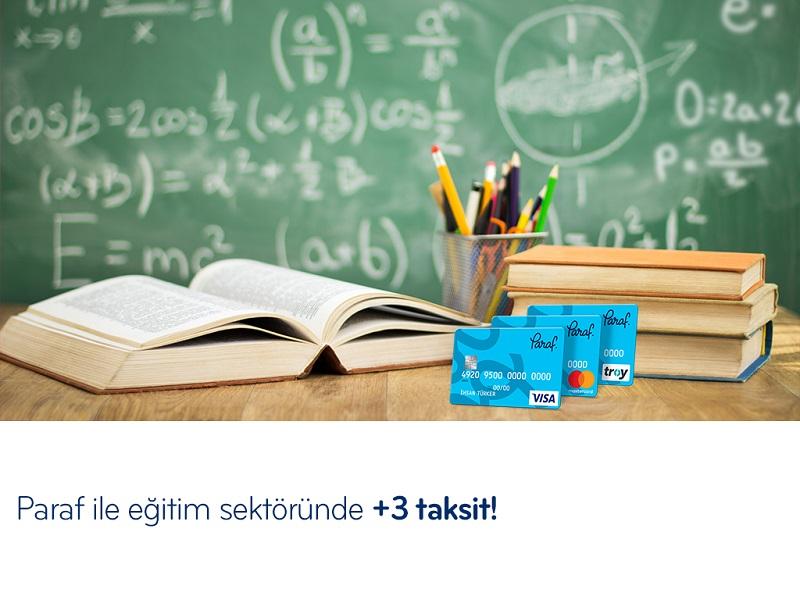 Paraf ile Eğitim Sektöründe +3 Taksit Fırsatı!