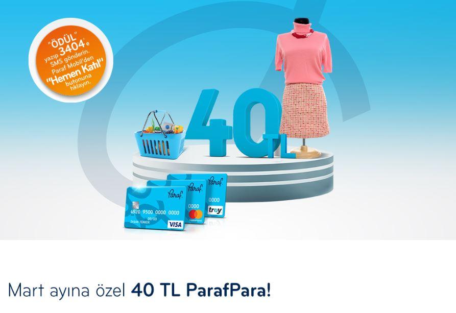 Market ve Giyim Harcamalarınıza Özel 40 TL ParafPara