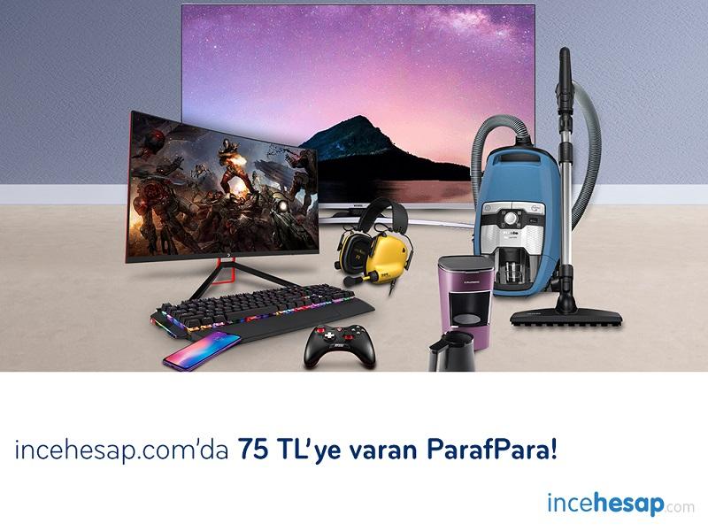 İncehesap.com'da 75 TL'ye Varan ParafPara ve Peşin fiyatına 5 taksit!