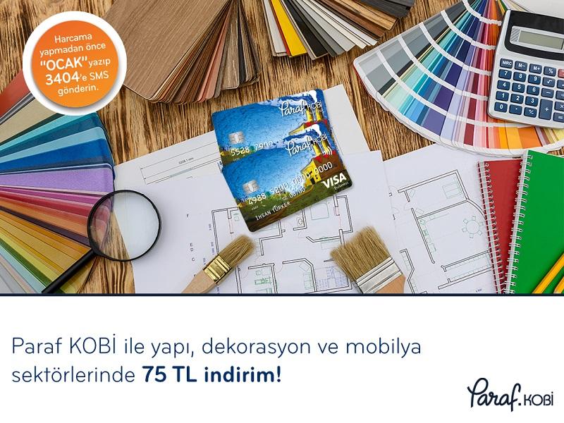 Paraf KOBİ ile Yapı, Dekorasyon ve Mobilya sektörlerinde 75 TL indirim fırsatı!