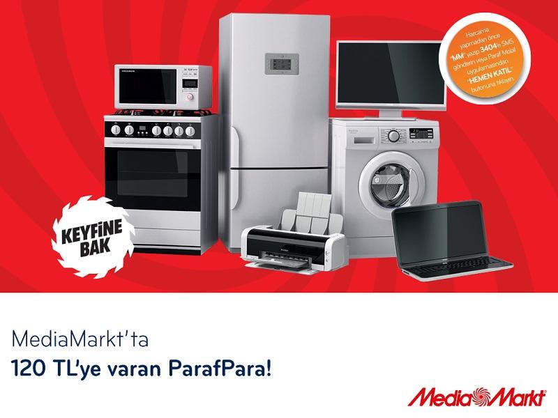 Media Markt'da 120 TL'ye varan ParafPara!