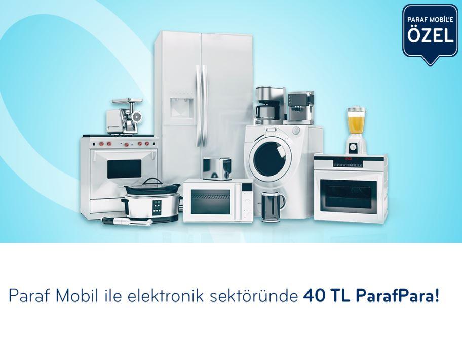 Elektronik Harcamalarınıza Paraf Mobil'e Özel 40 TL ParafPara!