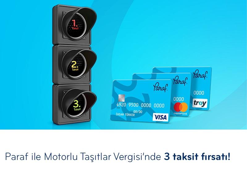 Paraf ile Motorlu Taşıtlar Vergisi' ne 3 taksit fırsatı!