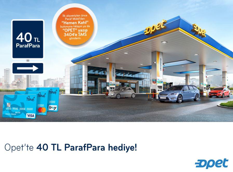 Paraf ile Opet'te 40 TL ParafPara Fırsatı!