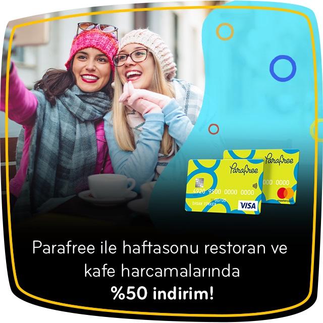 Parfree ile haftasonu restoran ve kafe harcamalarında %50 indirim!