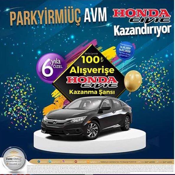 Park Yirmiüç AVM Honda Civic Çekiliş Kampanyası!