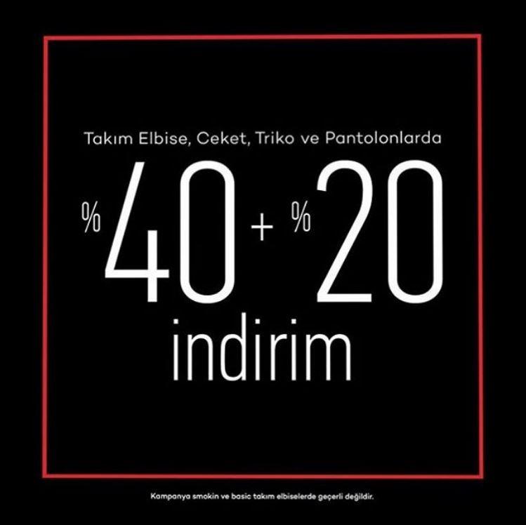 Pierre Cardin'de %40 indirime ek %20 indirim!
