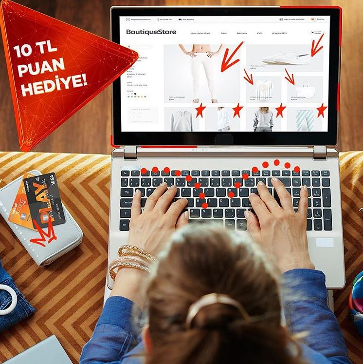 İnternet alışverişlerinde 10 TL puan!