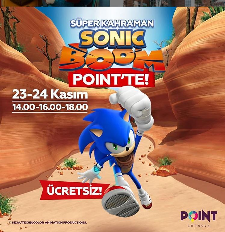 Point Bornova Süper Kahraman Sonic Boom Müzikal Etkinliği!