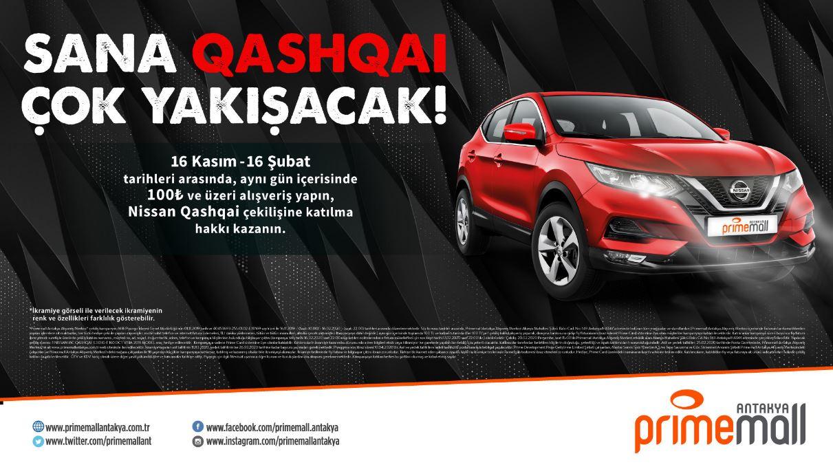 Primemall Antakya Nissan Qashqai Çekiliş Kampanyası!