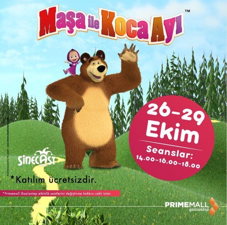 Primemall Gaziantep Maşa ile Koca Ayı Müzikal Etkinliği!