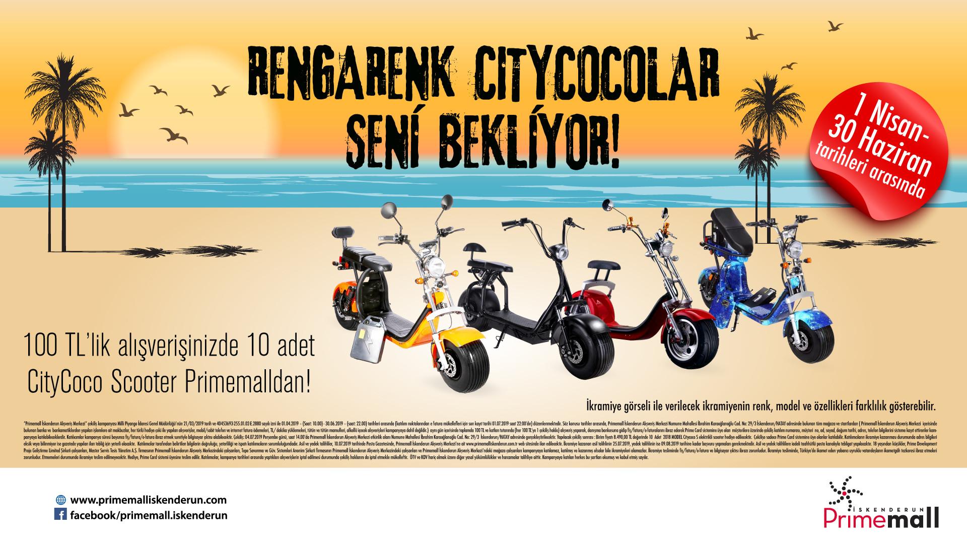 Primemall İskenderun Rengarenk Citycocolar Seni Bekliyor Çekiliş Kampanyası!