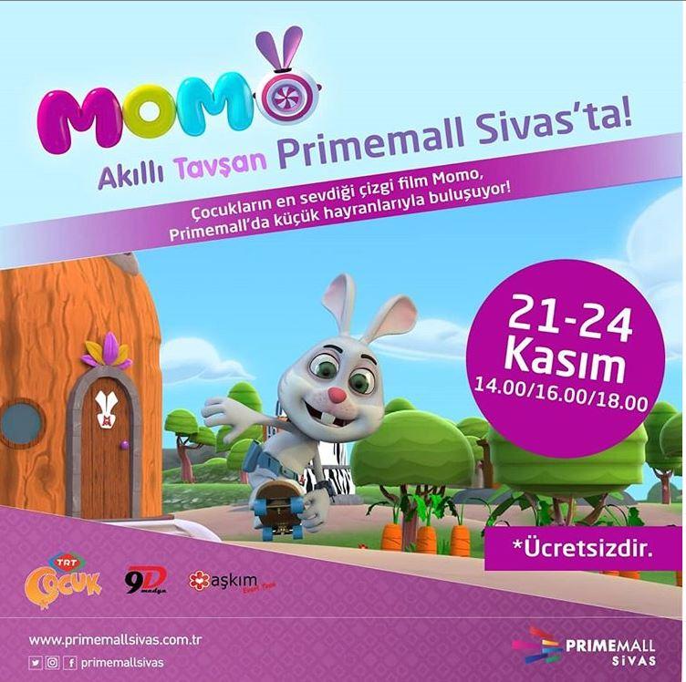 Primemall Sivas Akıllı Tavşan Momo Müzikali!