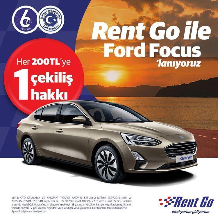 Rent Go Ford Focus Çekiliş Kampanyası!