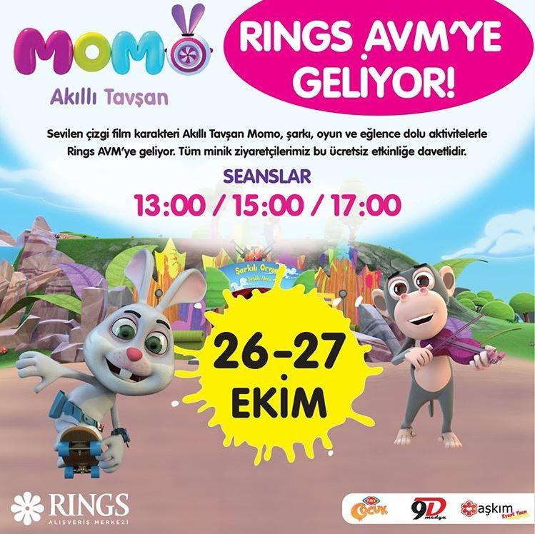 Rings AVM Akıllı Tavşan Momo Müzikal Etkinliği!