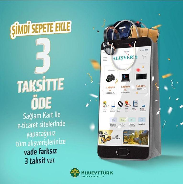 Sağlam Kart ile E-Ticaret Alışverişleriniz 3 Taksitle!