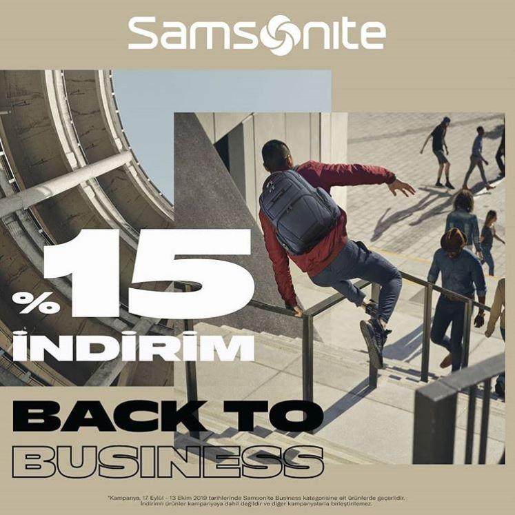 Samsonite %15 İndirim ile Back To Business!