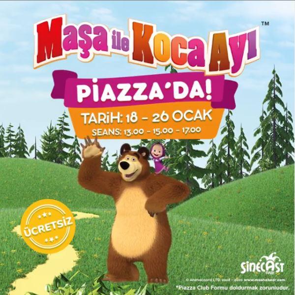 Maşa ile Koca Ayı sömestr tatilinde Samsun Piazza'ya geliyor!