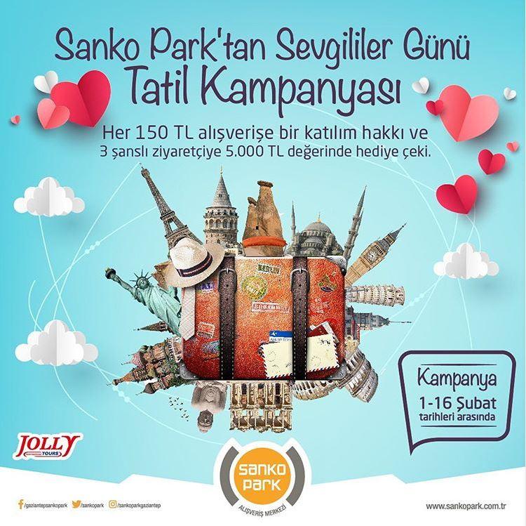 Sanko Park'tan Sevgililer Günü Tatil Kampanyası!