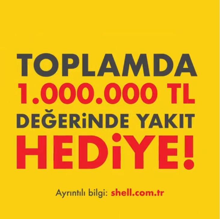 Toplam 1.000.000 TL değerinde yakıt hediyeli Shell çekilişi başladı!