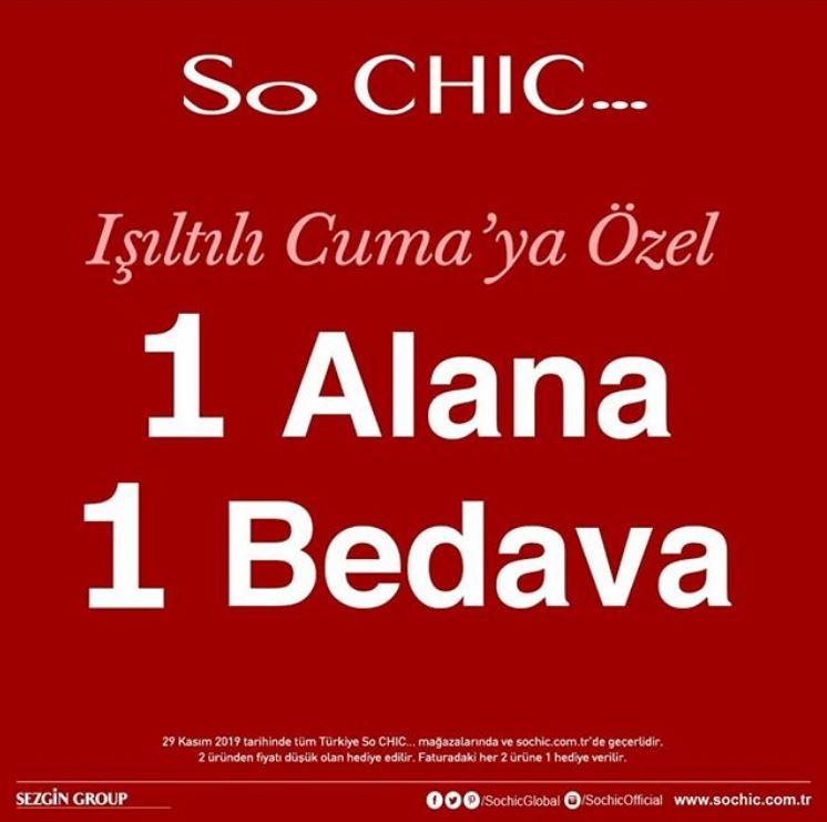 So Chic ışıltılı cuma hediye kampanyası!