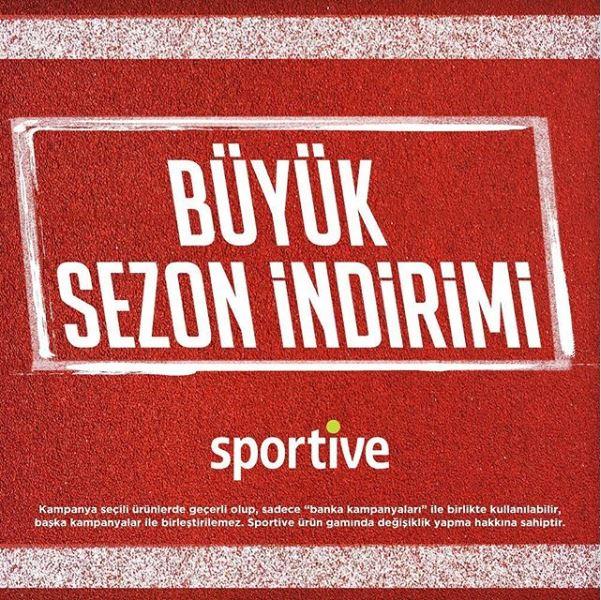 Sportive Büyük Sezon İndirimi!