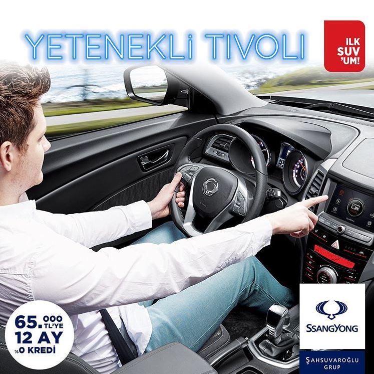 SsangYong Tivoli 65.000 TL'ye 12 Ay %0 Faizli Kredi Fırsatı!