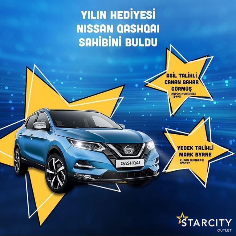 Starcity Outlet Nissan Qashqai Çekiliş Sonucu Açıklandı!