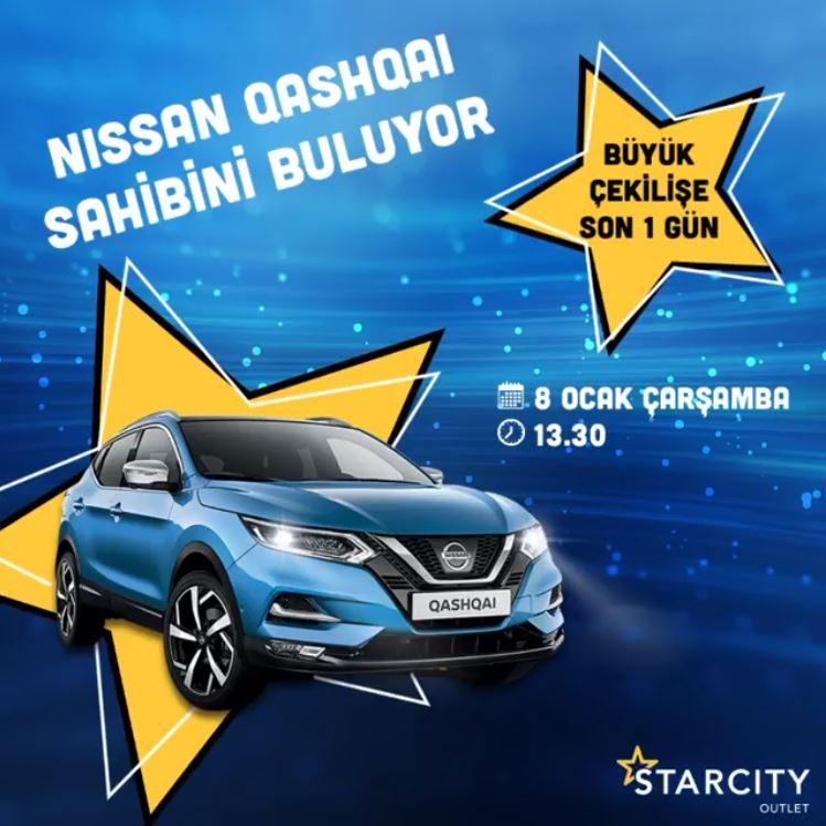 Starcity Outlet Nissan Qashqai Çekilişi Gerçekleşiyor!