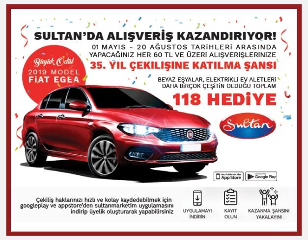 Sultan Market Fiat EGEA Çekiliş Kampanyası!