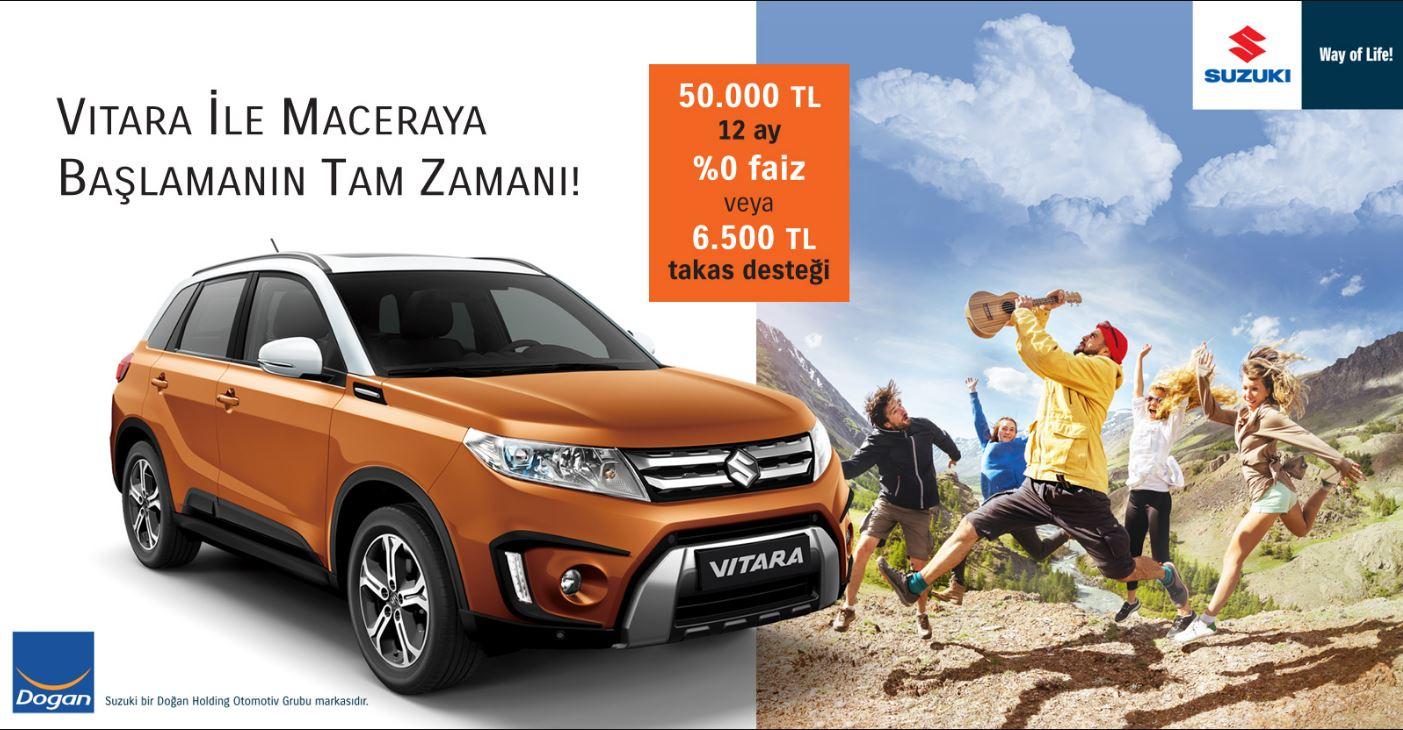 Suzuki Vitara 50.000 TL 12 ay %0 Faiz Fırsatıyla!