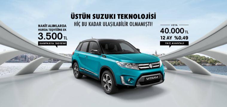 Suzuki Vitara 0.49 Faiz Oranı ve ek 3.500 TL indirim Fırsatı!