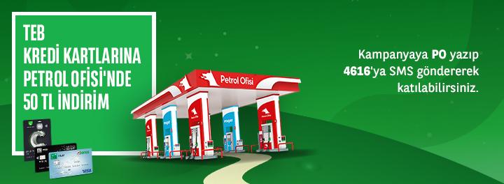 TEB Bonus ile Petrol Ofisi'nde 50 TL'ye Varan İndirim!
