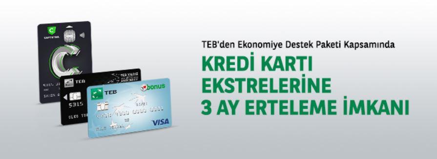 TEB'den Kredi Kartı Öteleme Kampanyası