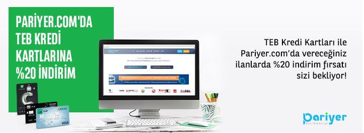 TEB kredi kartlarına özel Pariyer.com'da %20 indirim fırsatı!