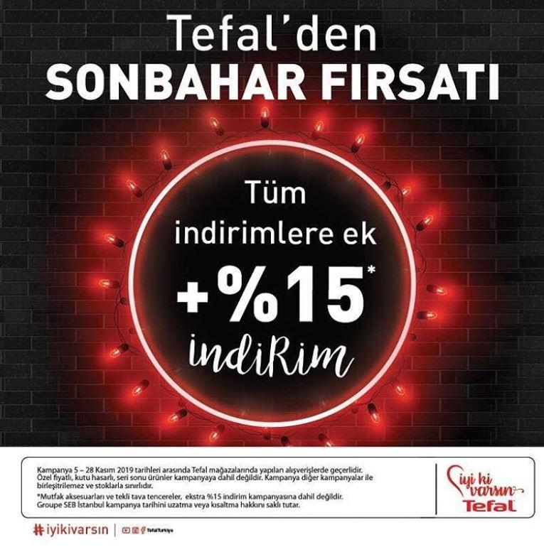 Tefal'den Ek %15 İndirim ile Sonbahar Kampanya Fırsatı!