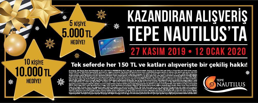 Tepe Nautilus 125.000 TL Hediye Çekiliş Kampanyası!