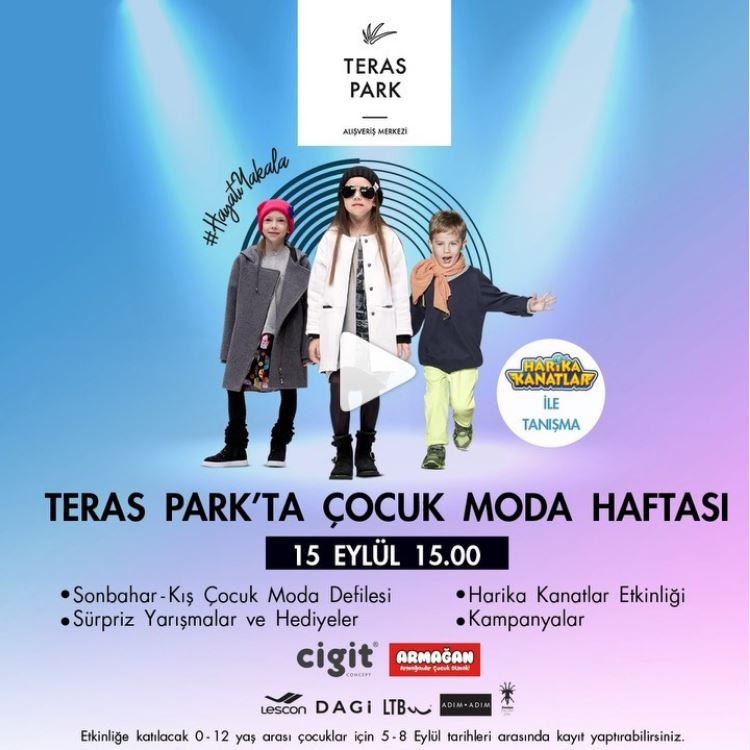 Teras Park AVM'de Çocuk Moda Haftası!