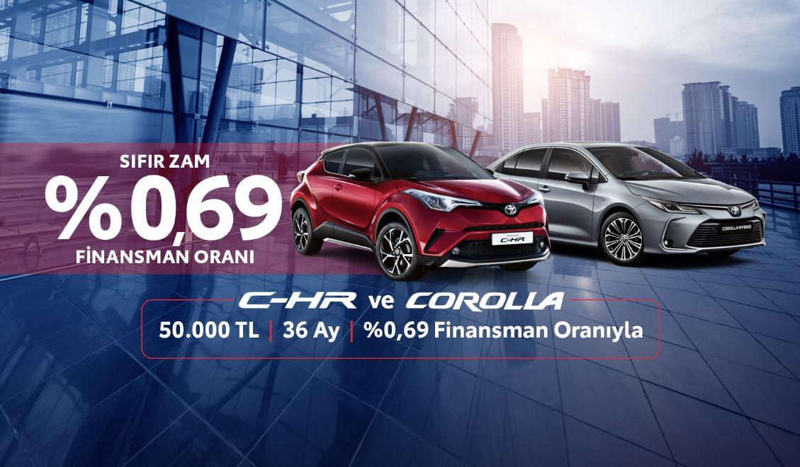 Toyota'da Sıfır zam %0,69 finansman oranı!