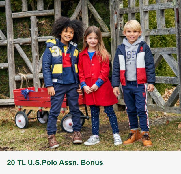 20 TL U.S.Polo Assn. Bonus!