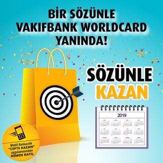 Bir sözünüze 300 TL' ye varan indirim VakıfBank Worldcard'tan!