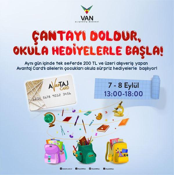 Van AVM'de Çantayı Doldur, Okula Hediyelerle Başla!