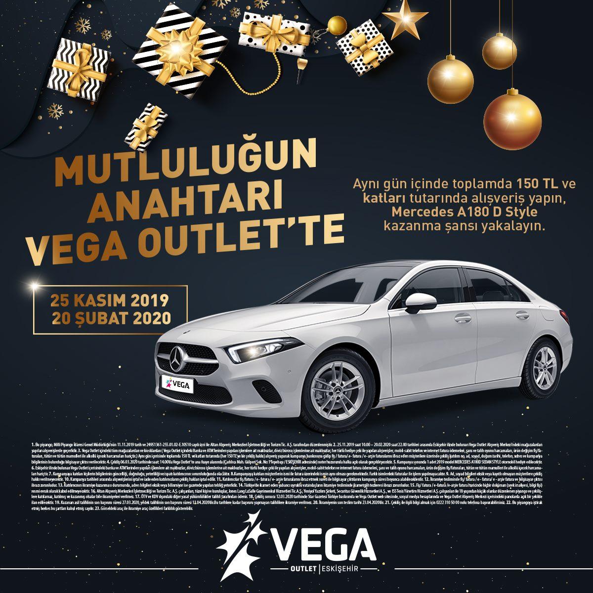 Vega Outlet Eskişehir Mercedes A180 D Style Çekiliş Kampanyası!