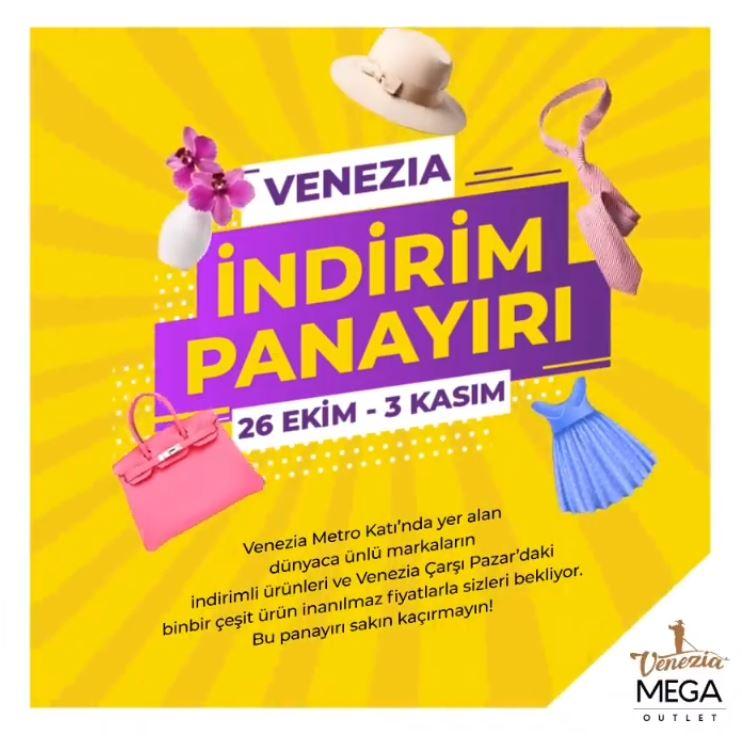 Venezia İndirim Panayırı başlıyor!