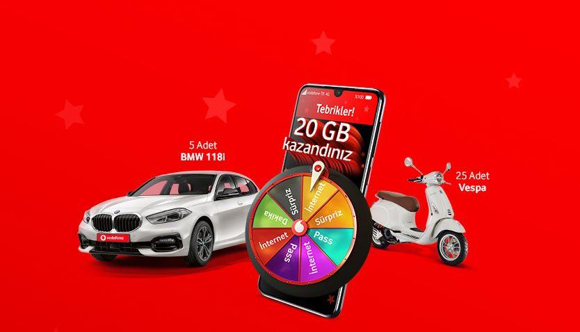 Vodafone Hediye Çarkı BMW 118i Çekiliş Kampanyası!