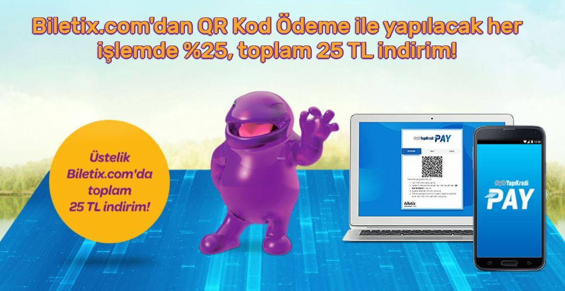 Biletix.com'da QR Kod Ödeme ile %25 indirim!