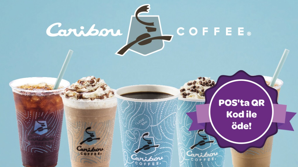 Caribou Coffee'de POS'ta QR Kod ile 10 TL Worldpuan!